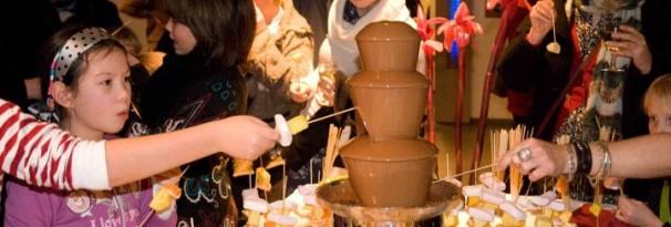 Chocoladefontein communiefeest