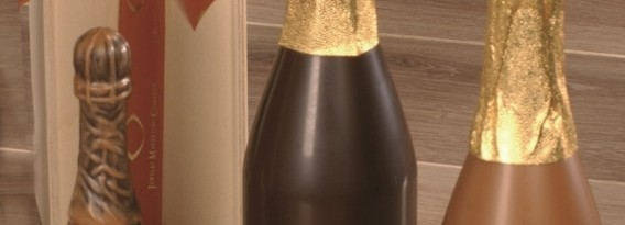 Chocolade champagneflessen