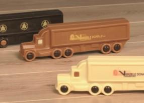 Chocolade vrachtwagens bedrukt met uw logo of boodschap