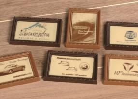 chocolade fotokader 100gr bedrukt met uw boodschap