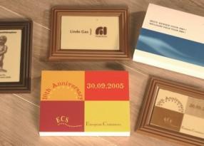 chocolade fotokader 400gr bedrukt met uw logo